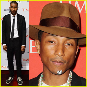 Pharrell Williams Wears Mickey Mouse Band Aid on His Chin