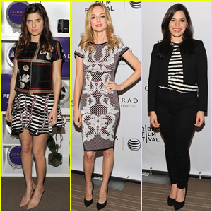 Pregnant Lake Bell Joins Heather Graham & America Ferrera at Tribeca Film Festival Awards 2014!