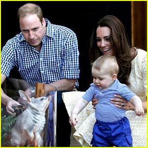 Prince George Goes to the Zoo & It's the C