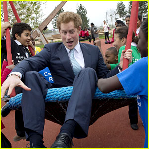 Prince Harry Playing with Kids at a Playground Is the Most Adorable Sight!