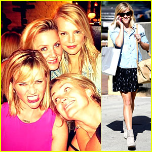 Reese Witherspoon Makes a Funny Face at Pal's Birthday Party!