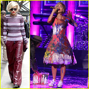 Rita Ora Has Paint Party for 'I Will Never Let You Down' Performance on 'Tonight Show'!