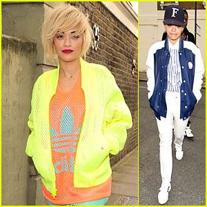 Rita Ora Shows Off New Short Hairdo in Bright Neon Ensemble!