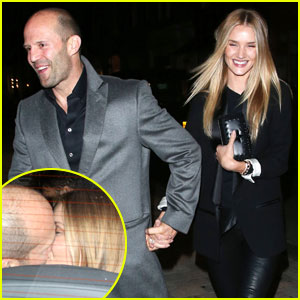 Rosie Huntington-Whiteley & Jason Statham Share Backseat Smooches After London Date!
