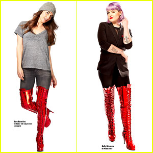 Sara Bareilles & Kelly Osbourne Put on Their 'Kinky Boots' for Charity! (Exclusive Video)