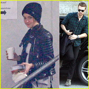 Shailene Woodley & Theo James Make a Quiet Hotel Exit at Night!