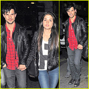 Taylor Lautner & Marie Avgeropoulos Are Inseparable London Lovers!