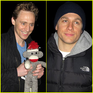 Tom Hiddleston Happily Accepts Stuffed Monkey from a Fan!