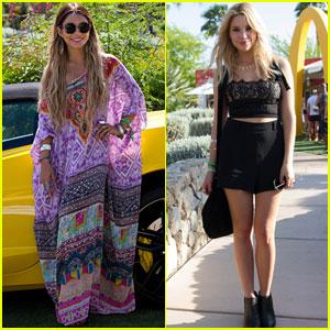 Vanessa Hudgens & Ashley Benson Reunite at Coachella Pool Party!