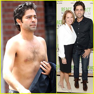 Adrian Grenier Strips Down Shirtless While Walking Through NYC Streets
