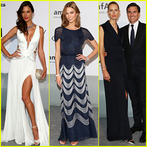 Alessandra Ambrosio & Karlie Kloss Go Ultra Glam for Cannes amfAR Gala 2014