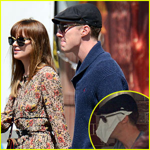 Benedict Cumberbatch Lunches with Dakota Johnson, Decorates His Face with Napkins to Make Her Laugh!