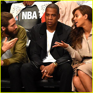 Beyonce & Jake Gyllenhaal Leave Jay Z Out of Their Conversation - See the Funny Pic!