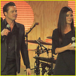 Brad Pitt Plays the Tambourine for Bruno Mars' 'Sex Machine' at Make it Right Gala 2014 - Watch Now!