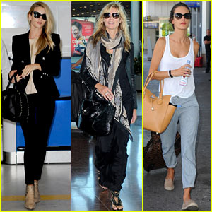 Bye Bye, Cannes! Rosie Huntington-Whiteley, Heidi Klum & More Fly Out of France
