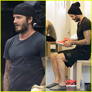 David Beckham Looks Intense Cheering For L.A. Kings During Playoffs!