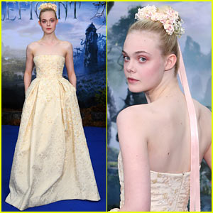 Elle Fanning Looks Like Royalty at 'Maleficent' Private Reception