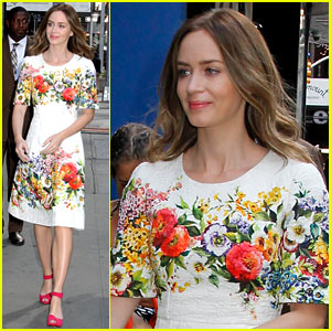 Emily Blunt Survived Her Three Cities in One Day Stop with 'Disgusting Pajamas'