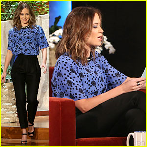 Emily Blunt Finally Opens Up on Her Cute Baby Girl Hazel on 'Ellen'!