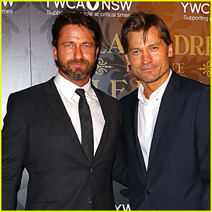 Gerard Butler & Nikolaj Coster Waldau Bring Handsome Star Power to YCMA Mother of All Balls!