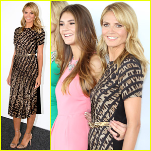 Heidi Klum Attends 'Germany's Next Topmodel' Photo Call with Top Three Finalists!
