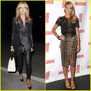 Heidi Klum Supports Youth Development at Up2Us Gala 2014!