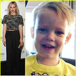 Awww...Hilary Duff Posts an Adorable Giggling Vid o
