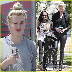 Ireland Baldwin & Angel Haze Grab Breakfast Together After Kissing!