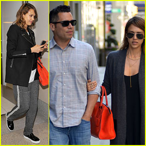 Jessica Alba & Her Hubby Stroll Around NYC Before the Met Ball