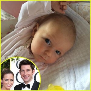John Krasinski & Emily Blunt Debut Hazel Grace's First Picture - See the Adorable Baby Girl Here!