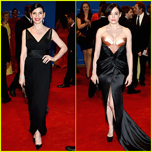 Julianna Margulies & Rose McGowan Make It a Black Affair at White House Correspondents' Dinner 2014