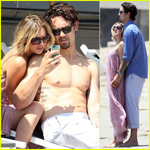 Kaley Cuoco Hits Up Joel Silver's Memorial Day Party with Shirtless Hubby Ryan Sweeting!