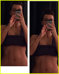 Kim Kardashian Displays Her Amazing Abs in New Selfie