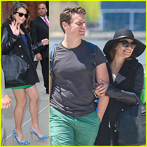 Lea Michele Hooks Onto BFF Jonathan Groff Before the Met Ball!