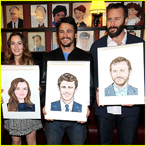 Leighton Meester & James Franco Get Caricatures at Sardi's!