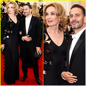 Marc Jacobs is Jessica Lange's Arm Candy at Met Ball 2014