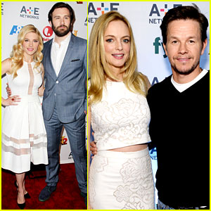 Mark Wahlberg & Heather Graham Buddy Up at A&E Upfronts!