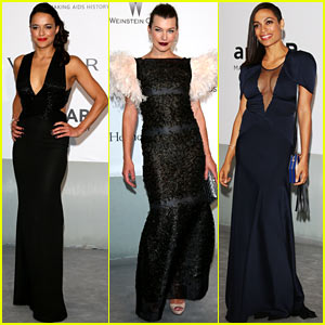 Michelle Rodriguez & Milla Jovovich Keep it Chic at Cannes' amfAR Gala 2014