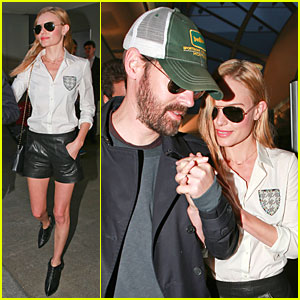 Nothing Can Come Between Kate Bosworth & Michael Polish at LAX!