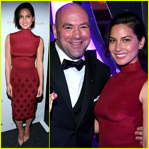 Olivia Munn Presents Award to Dana White at Sports Spec Gala