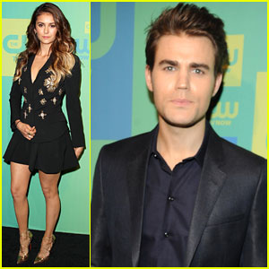 Nina Dobrev & Paul Wesley Hit The CW Upfronts Before 'The Vampire Diaries' Season Finale!