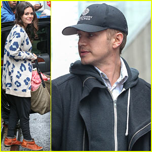 Rachel Bilson & Hayden Christensen Check Out of Their NYC Hotel