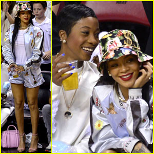 Rihanna Cheers on LeBron James at Nets vs. Heat Game