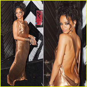 Rihanna's Super Low Dress Puts her Bare Butt on Display at Met Ball After Party 2014!