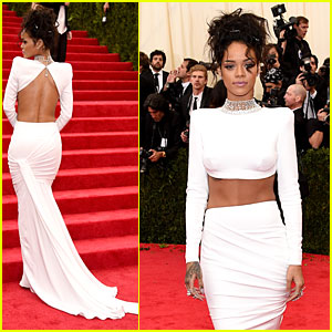 Rihanna Brings Sexy Back & Midriff to Met Ball 2014!