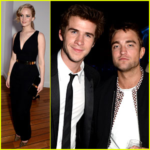 Robert Pattinson Parties with 'Hunger Games' Stars in Cannes!