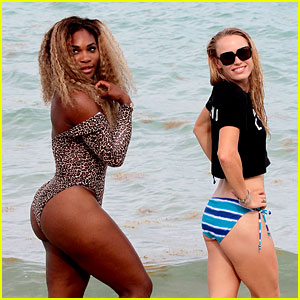 Serena Williams Gets Bootylicious at the Beach with Caroline Wozniacki!