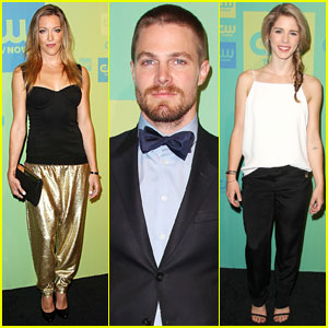 Stephen Amell & Katie Cassidy: 'Arrow' Stars Hit The CW Upfronts 2014!