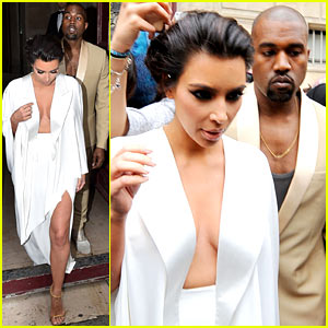 The Bride's in White! Kim Kardashian Wears Sexy White Dress on the Eve of Her Wedding