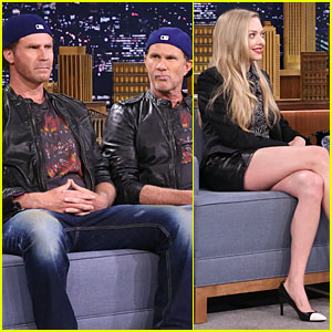 Will Ferrell & Red Hot Chili Peppers' Chad Smith Battle in Drum-Off on 'Tonight Show' - Watch Now!